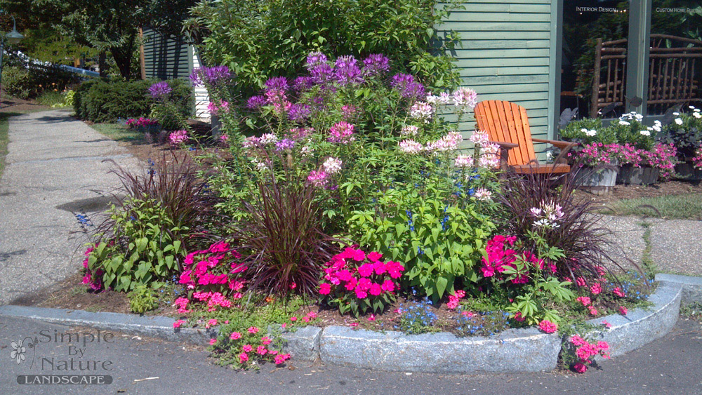 Flower garden design simple by nature lanscape for Perennial garden design